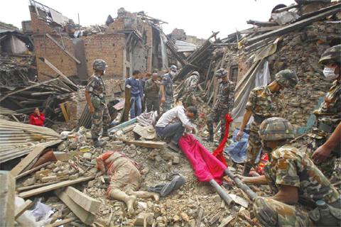 Nepal Earthquake, Photo From Kuwaiti News