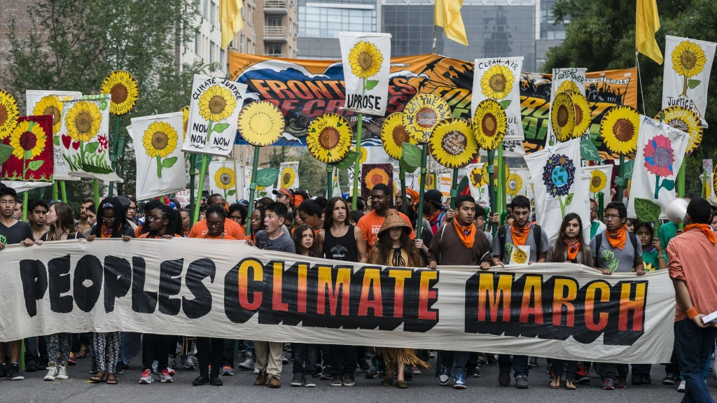 2014 People's Climate March. Photographer: Timothy Fadek/Bloomberg