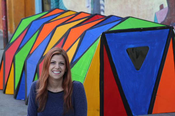 Cardborigami Shelter with  inventor Tina Hovsepian